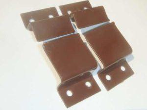 Комплект крепления для москитной сетки металл (корич)